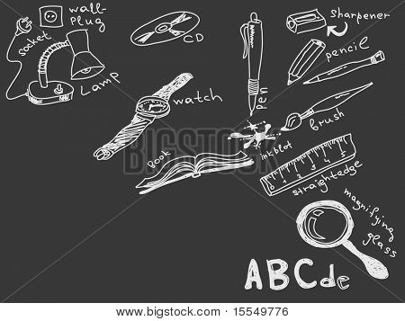 Hand drawn goods Vector. Visit my portfolio for big collection of doodles
