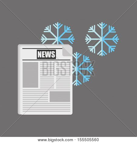 weather report in the newspaper vector illustration design