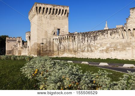 Avignon City Walls.. Avignon Provence-Alpes-Cote d'Azur France.