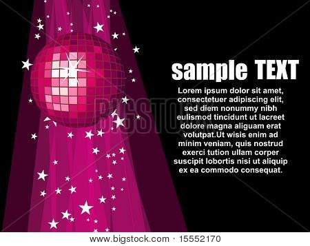 This is a vector disco ball design