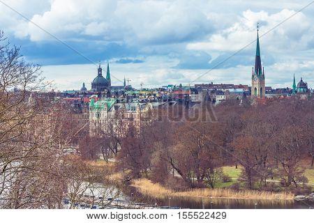 Stockholm Old Town, Sweden.  Stockholm City, Sweden.  Architecture Of The Center Of Stockholm, Swede