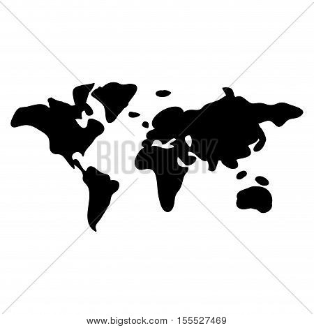 Planet map icon. Earth world and cartography theme. Isolated design. Vector illustration