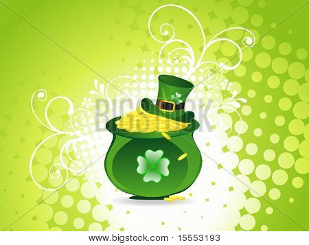 St. Patrick's Day Leprechaun hat with coin pot