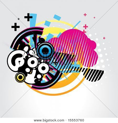 abstract vector design shape background
