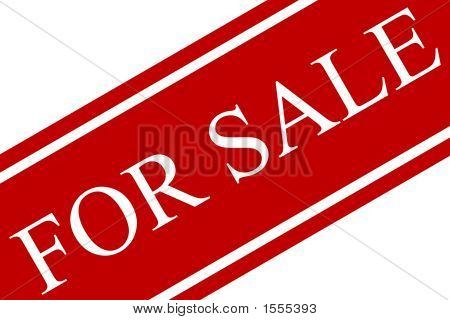 Red And White For Sale Sign