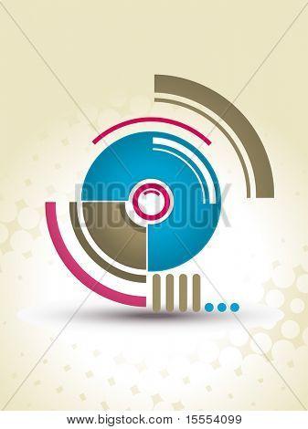 Abstract vector circles techno design