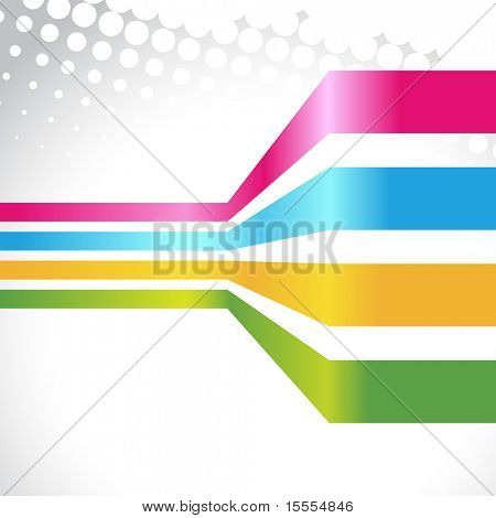 vector colorful lines on white background