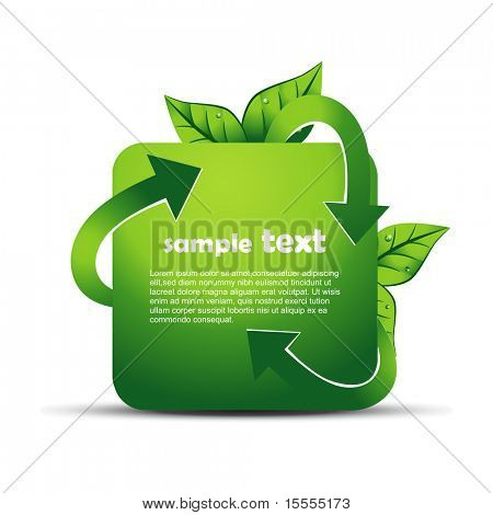vector recycle design illustration