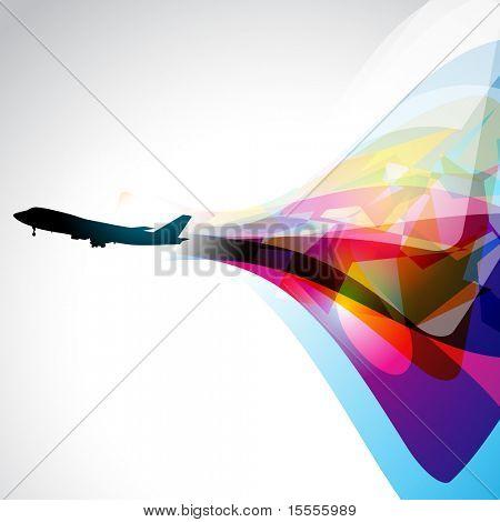 vector airplane artwork. eps10 design