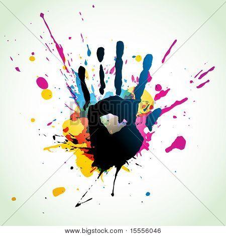 grunge mão estilo eps10 vetor arte abstrata