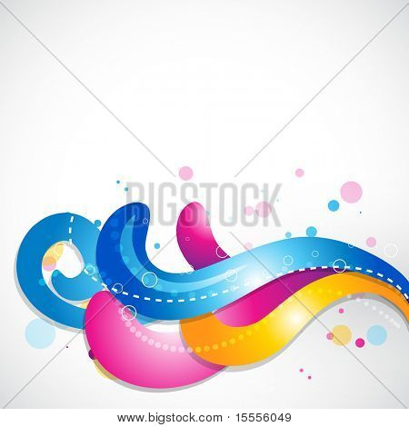 stylish muti-colorful floral design. Eps10 background