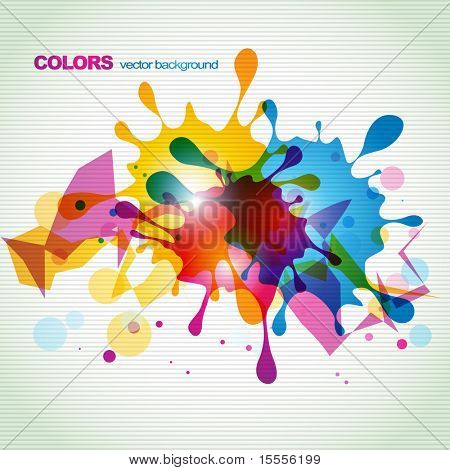 abstract eps10 colorful splash design