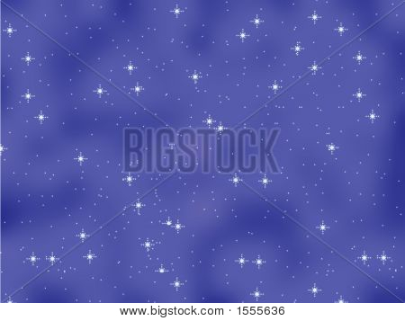 Star Background On Velvet Blue Sky
