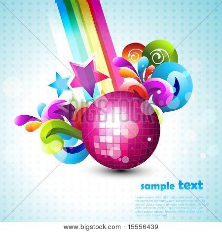vector disco ball eps10 design