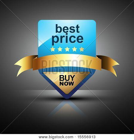 Vektor best Preis Etikettendesign