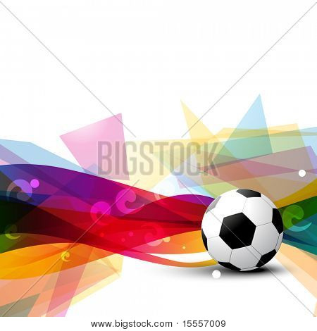 beautiful football vector design art