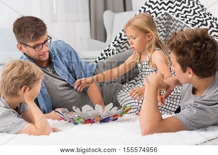 Father Spending Time With Children