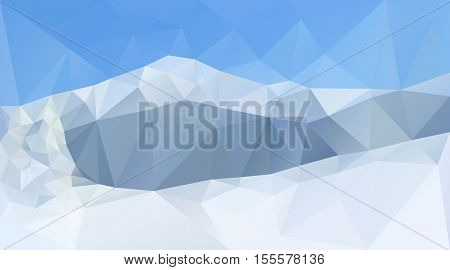 Winter mountain peaks and range. Creative vector background for winter sports or Christmas banner