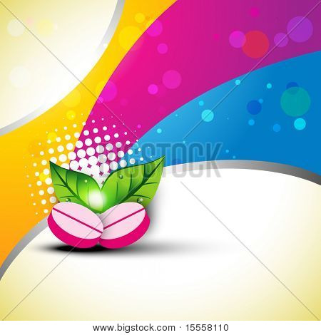 vector medicine on colorful background