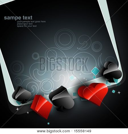 beautiful casino playing card vector elements