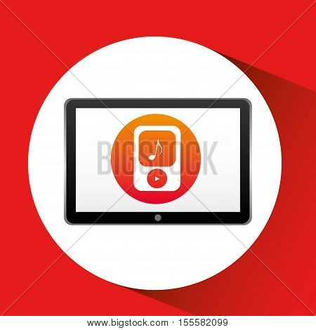 tablet technology icon player mp3 vector illustration eps 10