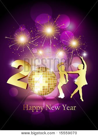stylish beautiful new year party vector design
