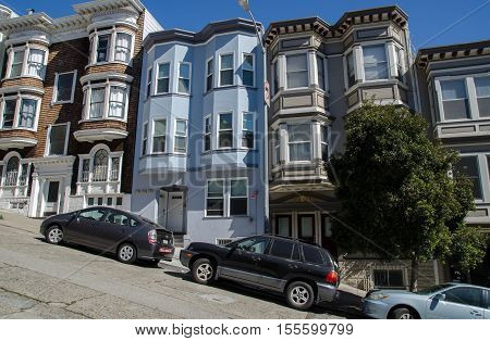 Descending Street In San Francisco
