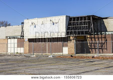 Abandoned Store on the Indianapolis East Side. Many Neighborhoods Battle Blight and Poverty I