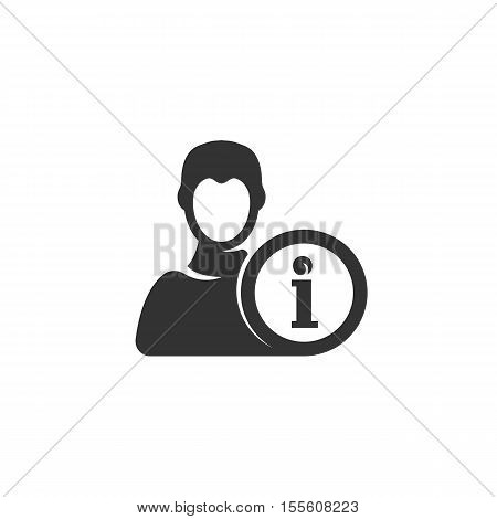 User icon isolated on a white background. Logo silhouette design template. Simple symbol concept in flat style. Abstract sign, pictogram for web, mobile and infographics - stock vector