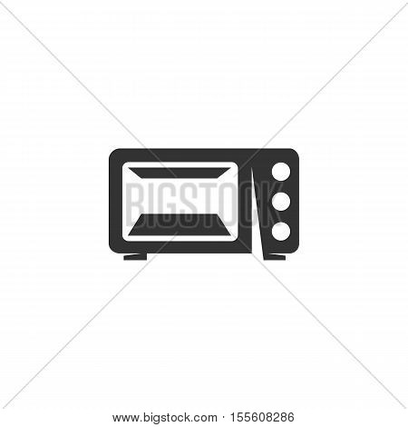 Microwave Icon isolated on a white background. Microwave Logo design vector template. Simple Logotype concept icon. Symbol, sign, pictogram, illustration - stock vector