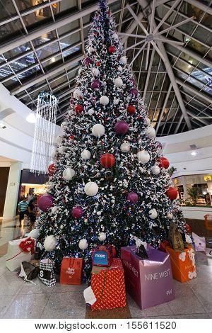 Mexico, Cancun - December 31, 2014: Shopping Mall Plaza Las Americas In Cancun City.