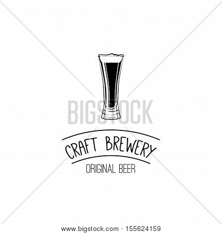 Beer craft Brewery. Handmade Typographic Art for Poster Print Greeting Card T shirt apparel design, hand crafted vector illustration.