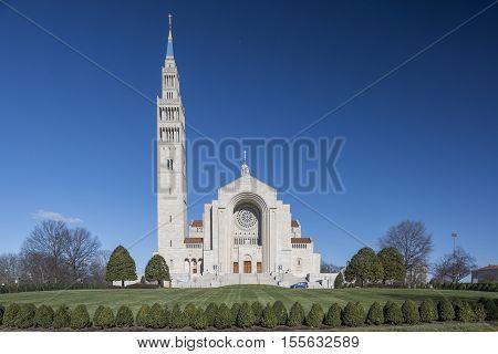 Washington D.C. USA - January 18 2016: The Basilica of the National Shrine