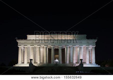 Washington D.C. USA - January 19 2016: The Lincoln Memorial