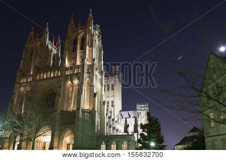 Washington D.C. USA - January 21 2016: The Washington National Cathedral