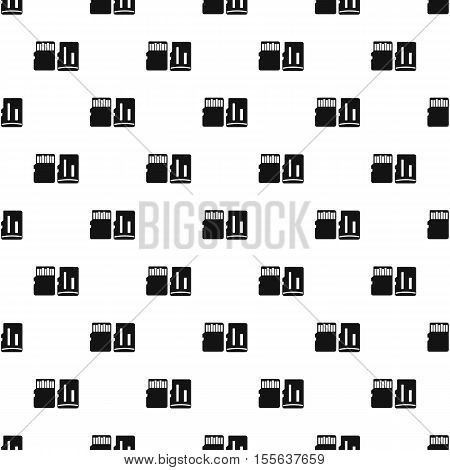 SD memory cards pattern. Simple illustration of SD memory cards vector pattern for web