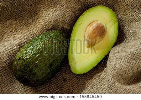 Extreme close-up image of avocado