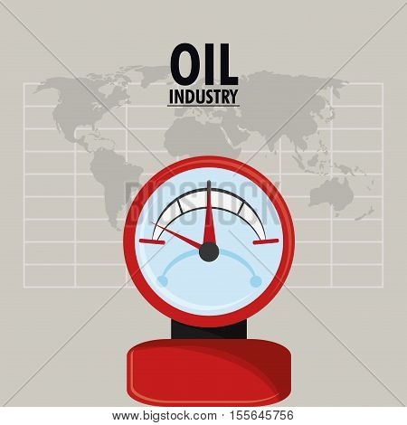 Gauge icon. Oil price industry fuel production and gasoline theme. Isolated design. Vector illustration