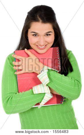 Beautiful Female Loving Her Studies