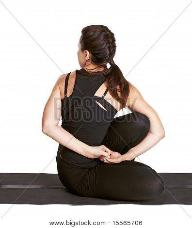Yoga Excercising Matsyendrasan