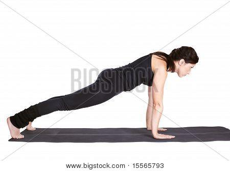 Yoga Excercising Urdhva Chaturanga Dandasana