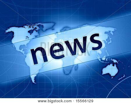 Blue World News Concept