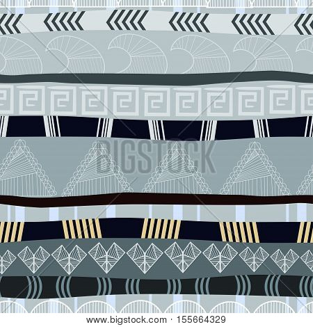 Seamless texture with traditional African pattern, ethno style