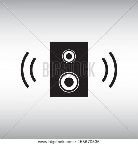 Speaker vector icon. Speaker isolated vector sign. Dynamic vector symbol.