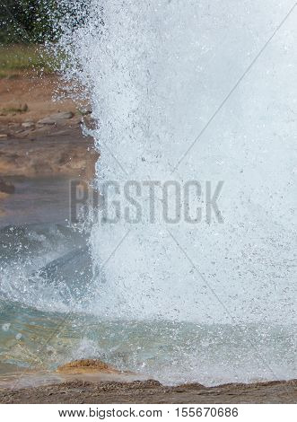 The Famous Strokkur Geyser - Iceland - Close-up