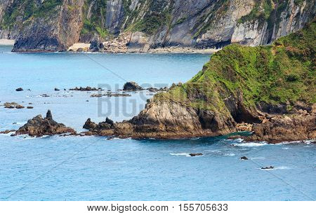 Summer Atlantic Ocean Coast, Spain.