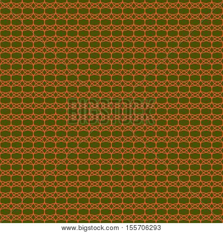 Oval geometric seamless pattern. Fashion graphic background design. Modern stylish abstract color texture. Template for prints textiles wrapping wallpaper website. Stock VECTOR illustration