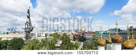 Moscow Downtown, Peter The Great Statue, Christ The Saviour сathedral