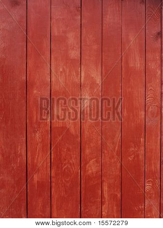 Wooden Red Painted Planks