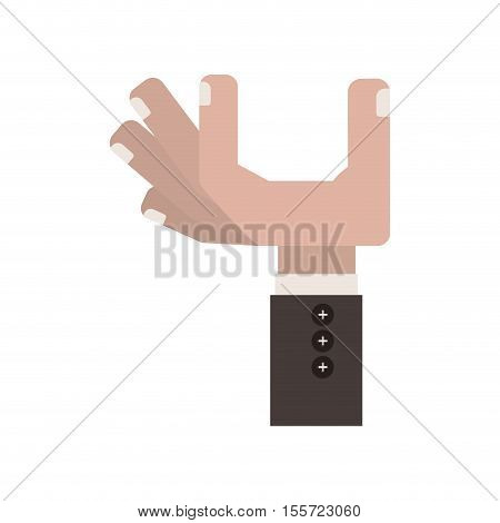 letter y shape with hand vector illustration